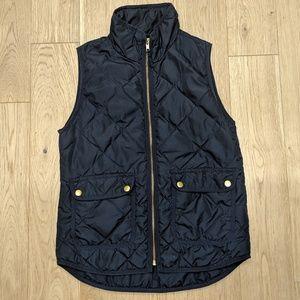 J. Crew Blue Gold Vest